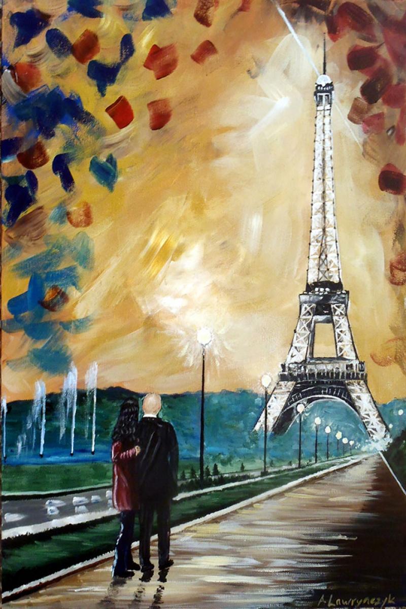 Eyfel Paris, Fransa 1 Dekoratif Kanvas Tablo