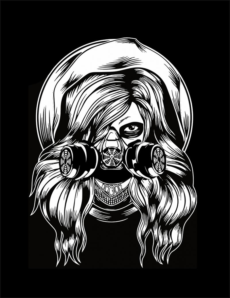 Eylemci Kız İllustrasyon Popüler Kültür Kanvas Tablo