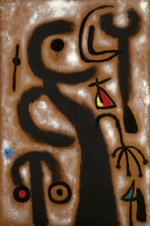 Ezoterik Mitolojik Şekiller 1 Soyut Yağlı Boya Abstract Kanvas Tablo