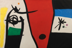 Ezoterik Mitolojik Şekiller 3 Soyut Yağlı Boya Abstract Kanvas Tablo