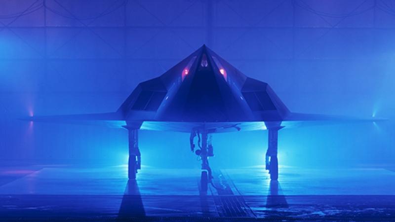 F117 Hayalet Uçak Kanvas Tablo