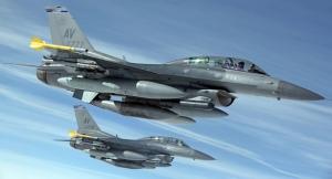 F16 Savaş Jetleri Askeri Kanvas Tablo