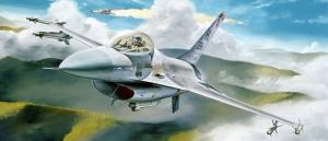 F16 Savas Ucaklari 2 Yagli Boya Sanat Kanvas Tablo