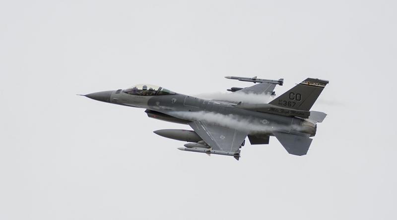 F16 Uçağı 2 Askeri Kanvas Tablo