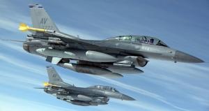 F16 Uçakları Askeri Kanvas Tablo