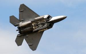 F22 Jet Savaş Uçak Askeri 2 Kanvas Tablo