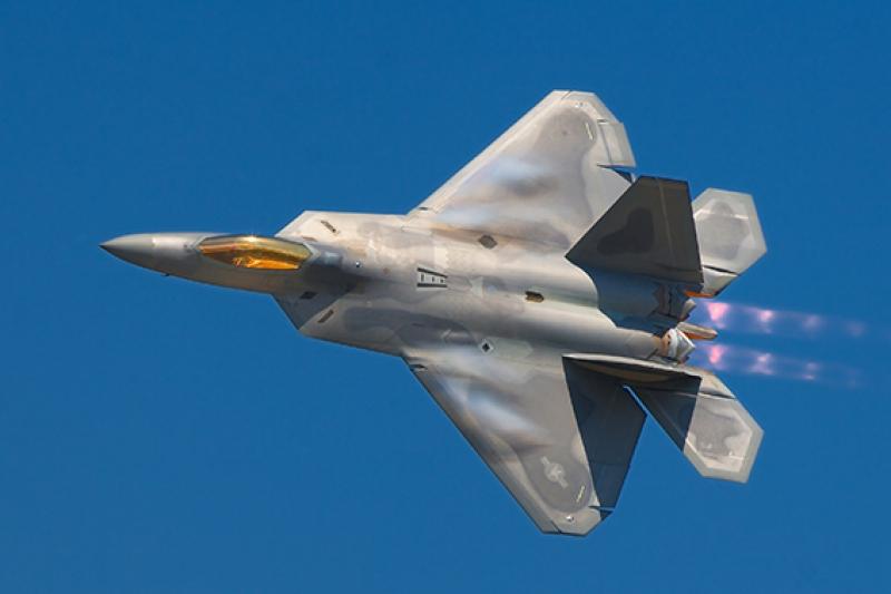 F22 Jet Savaş Uçak Askeri Kanvas Tablo