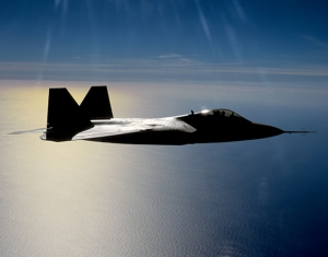 F22 Jet Savaş Uçak Gökyüzü Kanvas Tablo