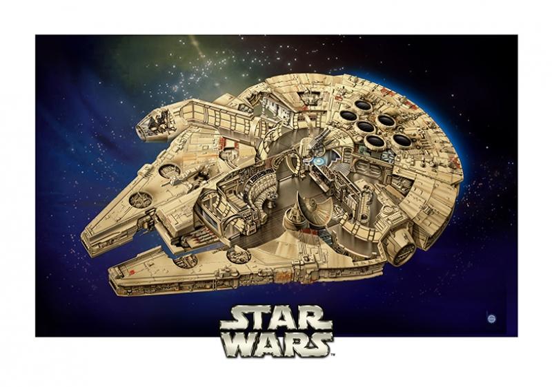 Falcon İllustrasyon Star Wars Kanvas Tablo