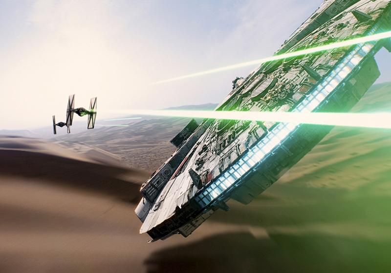 Falcon Star Wars Kanvas Tablo
