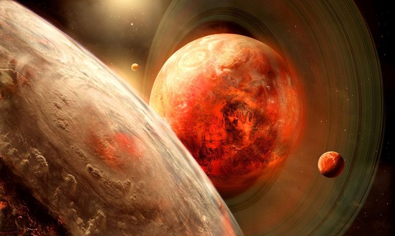 Fantastik Ay ve Dünya Fotoğrafı Dünya & Uzay Kanvas Tablo