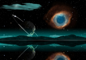 Fantastik Dünya & Uzay Kanvas Tablo
