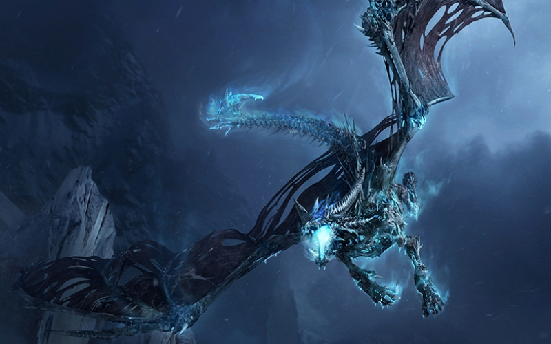 Fantastik Ejderha Abstract Dijital ve Fantastik Kanvas Tablo