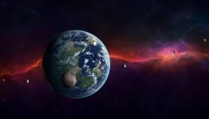 Fantastik Evren 2 Dünya & Uzay Kanvas Tablo