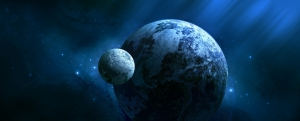 Fantastik Evren Dünya & Uzay Kanvas Tablo