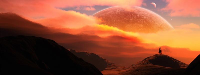 Fantastik Galaksi Dünya & Uzay Kanvas Tablo