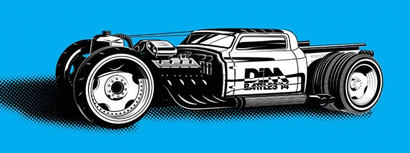 Fantastik Illustrasyon Otomobil Araçlar Kanvas Tablo
