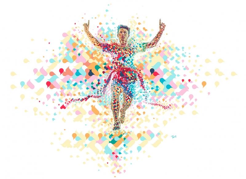 Fantastik İnsan Abstract Kanvas Tablo
