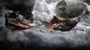 Fantastik Korsanlar Abstract Dijital ve Fantastik Kanvas Tablo
