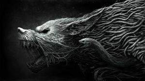 Fantastik Kurt Hayvanlar Kanvas Tablo