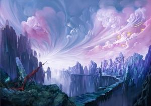 Fantastik Manzara 2 Abstract Dijital ve Fantastik Kanvas Tablo