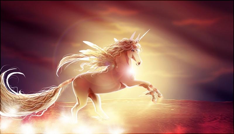 Fantastik Unicorn At Hayvanlar Kanvas Tablo