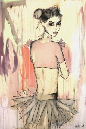 Fashion Moda-1 Sanatsal Modern Dekorasyon Kanvas Tabloları