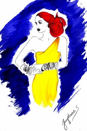 Fashion Moda-108 Sanatsal Modern Dekorasyon Kanvas Tabloları