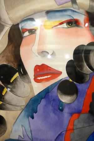 Fashion Moda-111 Sanatsal Modern Dekorasyon Kanvas Tabloları
