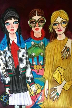 Fashion Moda-114 Sanatsal Modern Dekorasyon Kanvas Tabloları