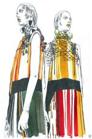 Fashion Moda-115 Sanatsal Modern Dekorasyon Kanvas Tabloları