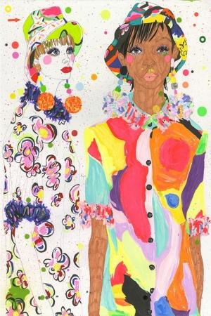 Fashion Moda-122 Sanatsal Modern Dekorasyon Kanvas Tabloları
