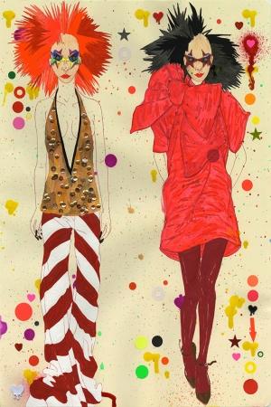 Fashion Moda-125 Sanatsal Modern Dekorasyon Kanvas Tabloları