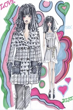 Fashion Moda-129 Sanatsal Modern Dekorasyon Kanvas Tabloları
