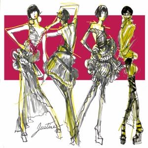 Fashion Moda-135 Sanatsal Modern Dekorasyon Kanvas Tabloları
