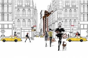 Fashion Moda-148 Sanatsal Modern Dekorasyon Kanvas Tabloları