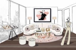 Fashion Moda-157 Sanatsal Modern Dekorasyon Kanvas Tabloları