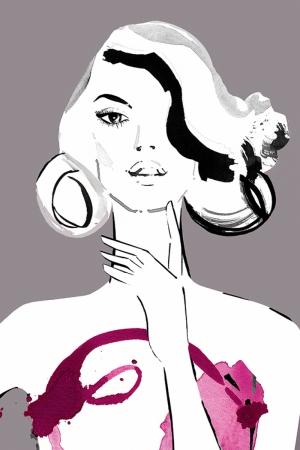 Fashion Moda-161 Sanatsal Modern Dekorasyon Kanvas Tabloları