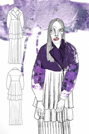 Fashion Moda-166 Sanatsal Modern Dekorasyon Kanvas Tabloları