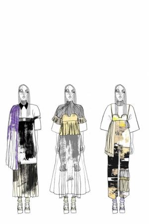 Fashion Moda-167 Sanatsal Modern Dekorasyon Kanvas Tabloları