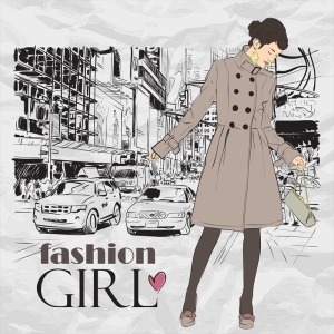 Fashion Moda-170 Sanatsal Modern Dekorasyon Kanvas Tabloları