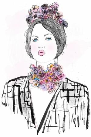Fashion Moda-174 Sanatsal Modern Dekorasyon Kanvas Tabloları