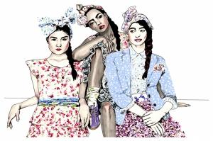 Fashion Moda-178 Sanatsal Modern Dekorasyon Kanvas Tabloları