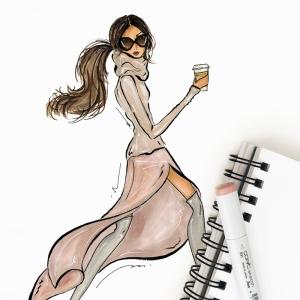 Fashion Moda-180 Sanatsal Modern Dekorasyon Kanvas Tabloları
