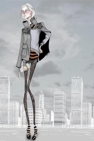 Fashion Moda-181 Sanatsal Modern Dekorasyon Kanvas Tabloları