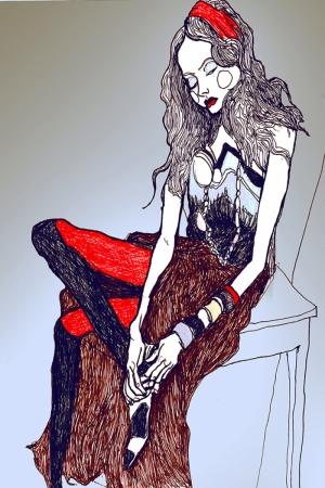 Fashion Moda-183 Sanatsal Modern Dekorasyon Kanvas Tabloları