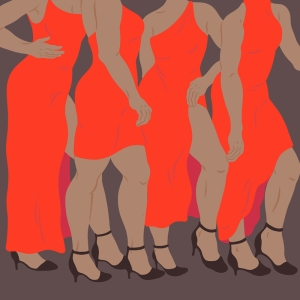 Fashion Moda-185 Sanatsal Modern Dekorasyon Kanvas Tabloları