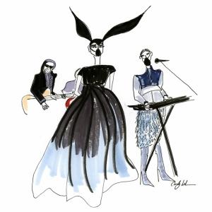 Fashion Moda-186 Sanatsal Modern Dekorasyon Kanvas Tabloları
