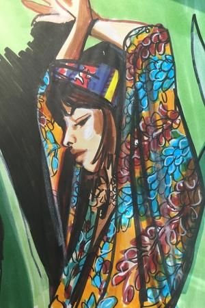Fashion Moda-189 Sanatsal Modern Dekorasyon Kanvas Tabloları