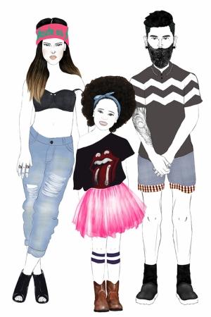 Fashion Moda-202 İllustrasyon Çizim Sanatsal Modern Dekorasyon Kanvas Tabloları
